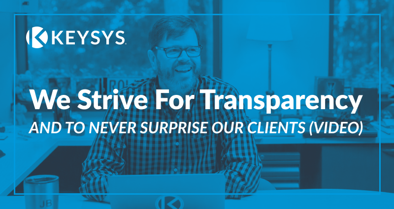 We Strive For Transparency (Video)