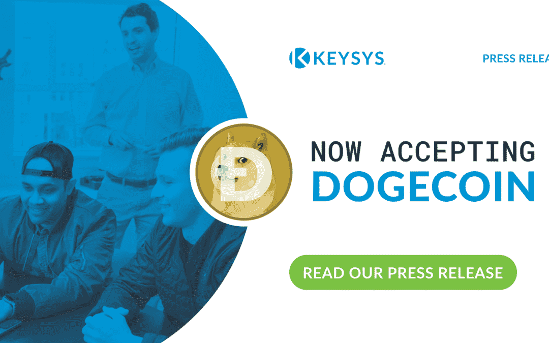 KEYSYS Clients can now pay with Dogecoin